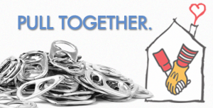 Pull Together Pop Top Tab Ad for Ronald McDonald House