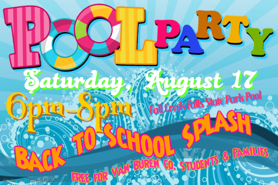 Back to School Splash Event Flyer