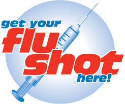 Get your flu shot here art