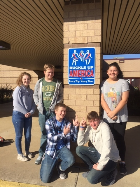 Buckle Up, America photo with VBHS Students
