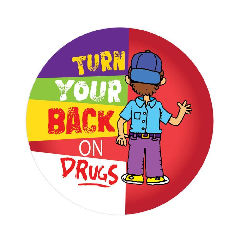 Turn your back on drugs art