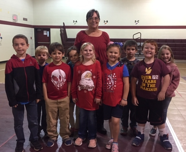 Mrs. Donna Grissom and 2nd graders