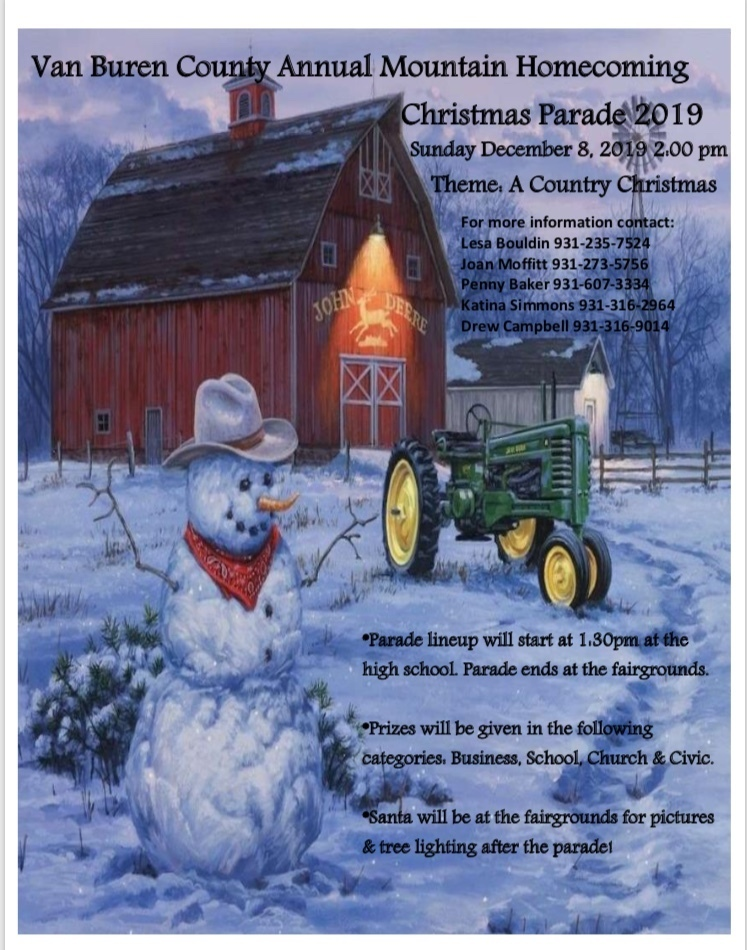 Spencer Christmas Parade Flyer