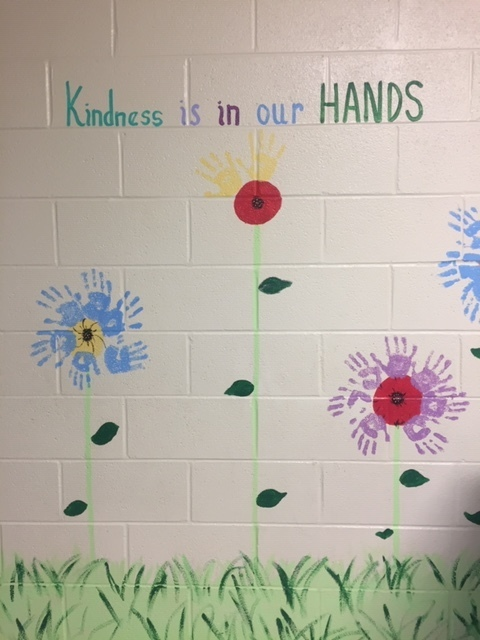 Kindness is in our hands mural