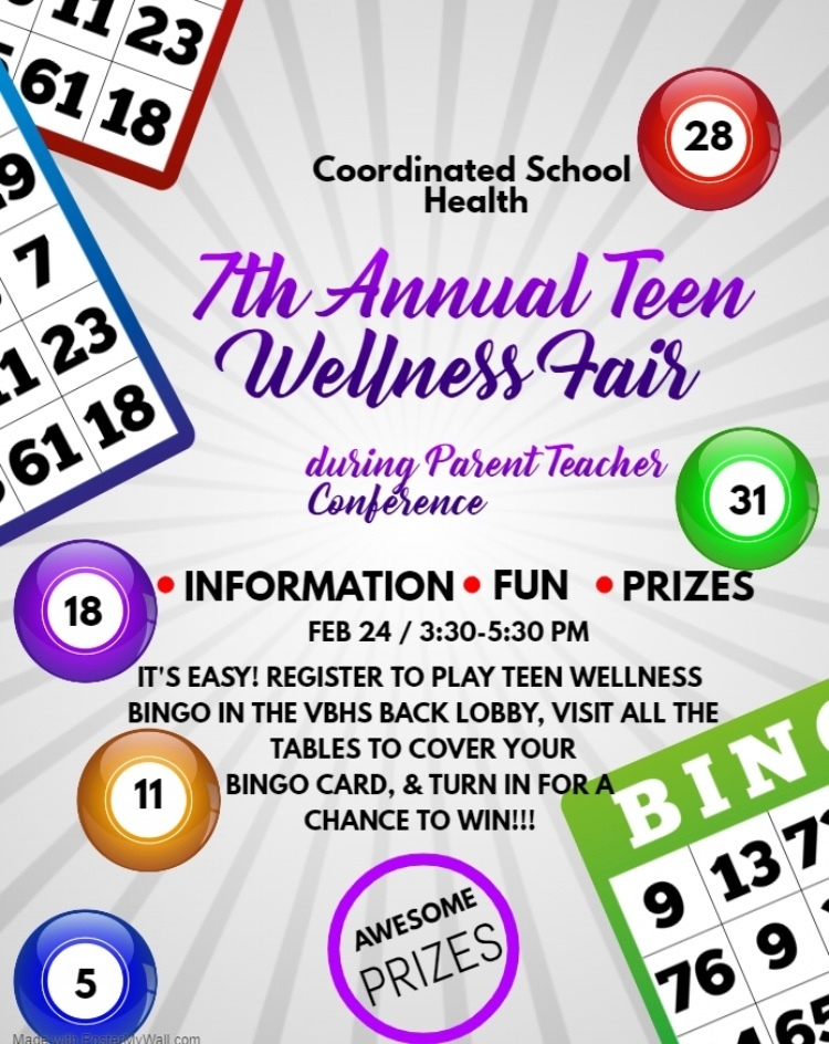 Teen Wellness Fair Flyer
