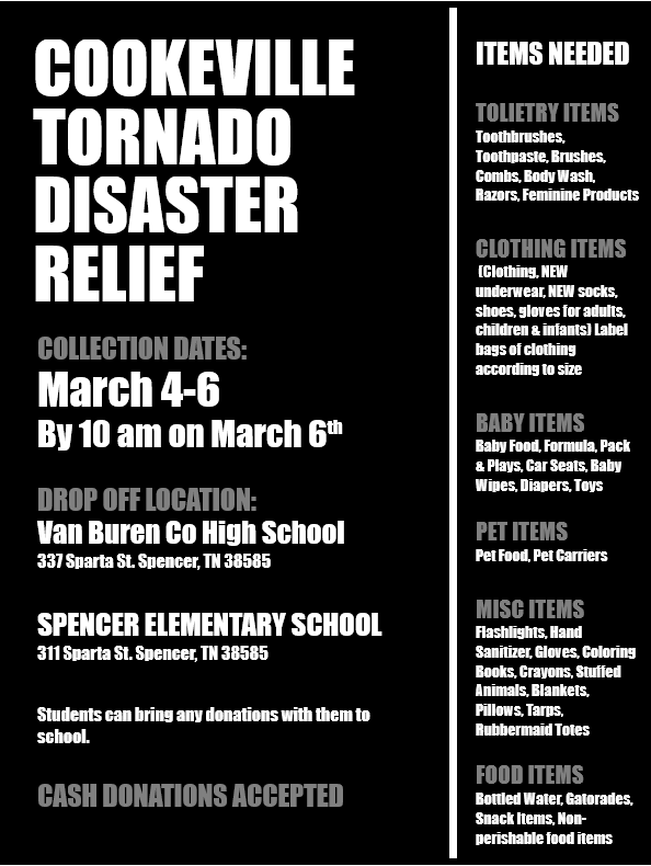 Cookeville Disaster Relief Flyer